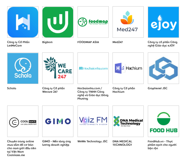 Top 15 Startup Việt nhánh Seed+ . Ảnh: BTC.