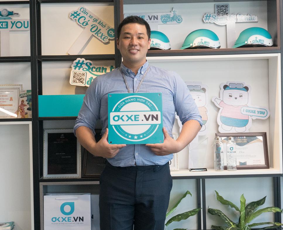 Kim WooSeok, CEO của Okxe Việt Nam.